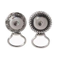 Élégant et pratique porte-lunettes tenir bouton magnétique broche fleur strass lunettes bijoux accessoires