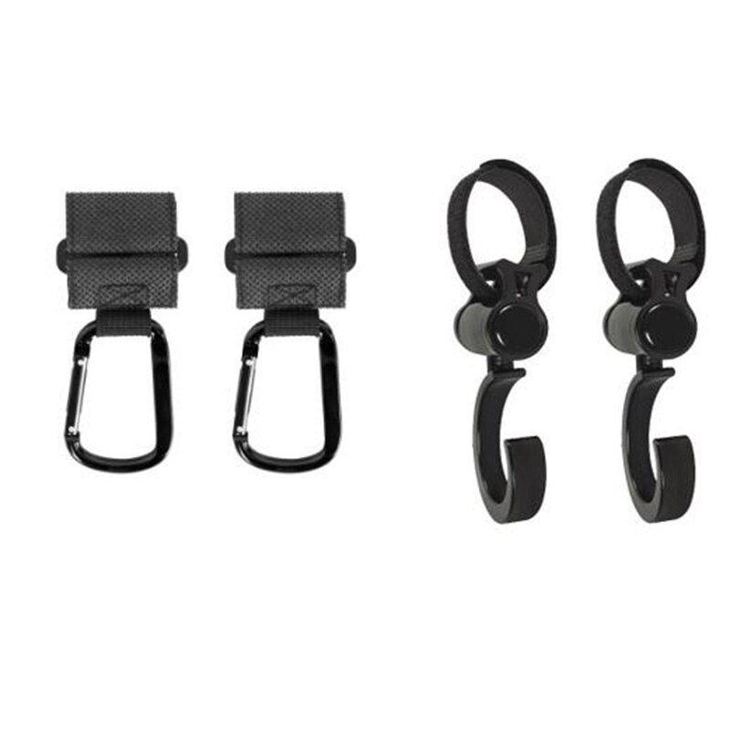 Stroller Hooks, 4 Pcs Multi-Purpose Hooks for Baby Diaper Bags,Purses on Strollers,Durable Accessories