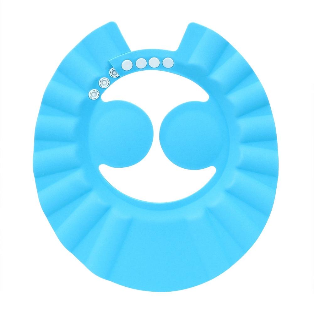 Детская шапочка для душа s, кепка для мытья волос, детский козырек для ванной, регулируемая защита, водонепроницаемая, защита ушей, детские шапки для младенцев
