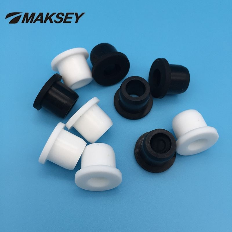 MAKSEY Silikon gummi draht kabel tülle scheibe klar 10mm 11mm 12mm 13mm 14mm Versiegelt washer split ring nylon hülse Dichtung