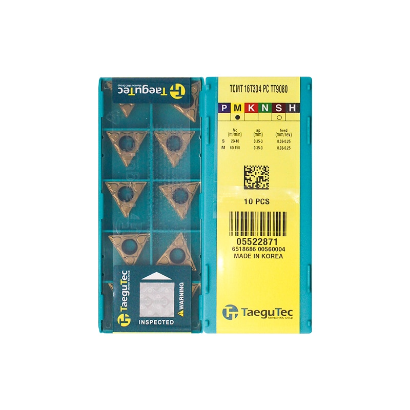 الأصلي TCMT16T304-PC TT9080 الداخلية الجولة طحن أداة آلة خرط تعمل بالتحكم الرقمي بواسطة الحاسوب أدوات تحول إدراج