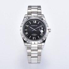Parnis 39mm sapphire black dial sapphire glass date Miyota 8215 Automatic movement Men's Watch