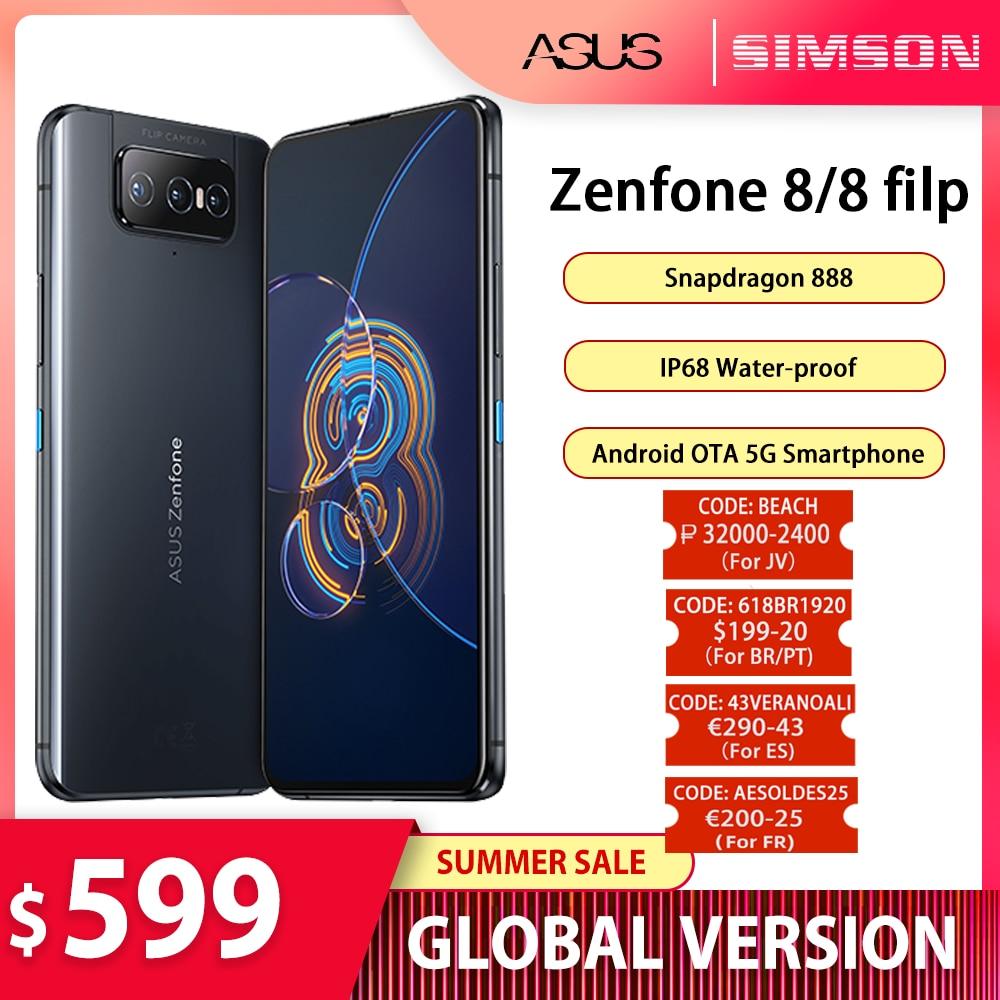 ASUS Zenfone 8/8 флип-глобальная версия Snapdragon 888 8/16GB Оперативная память 128/256 ГБ Встроенная память активно-матричные осид, IP68 воды-доказательство ...
