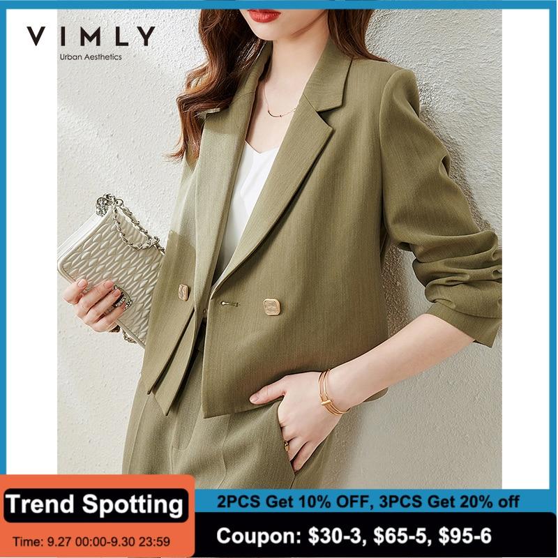 Viily-سترة نسائية قصيرة بأزرار مزدوجة ، معطف مكتب أنيق ، ملابس خارجية ، مجموعة جديدة