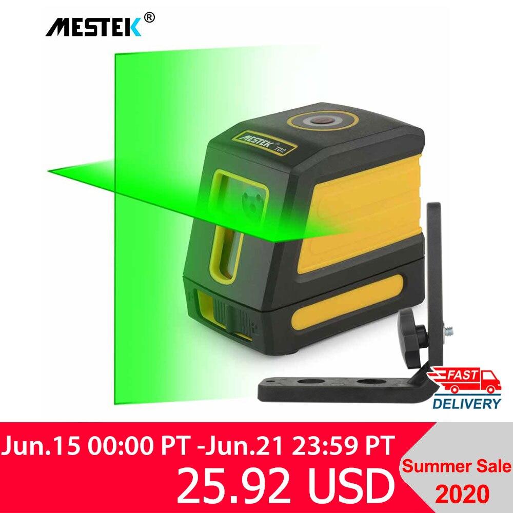 Nivel láser autonivelante línea transversal Horizontal y Vertical haz rojo/Verde portátil Mini medidor de nivel láser 360 dos líneas