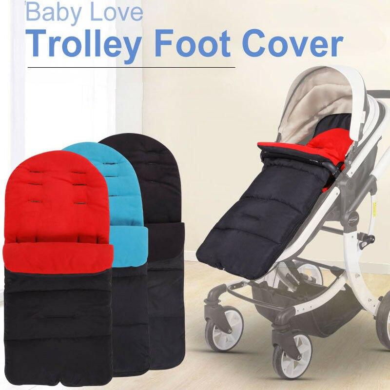 Universal à prova de vento quente bebê sono carrinho de criança pé muff buggy carrinho carrinho carrinho de bebê esteira pé capa footmuff para o inverno outono