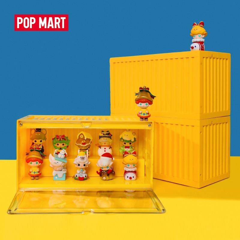 POP MART Rectangle Luminous Container For Toys Figure Display 35cmX19cmX17cm