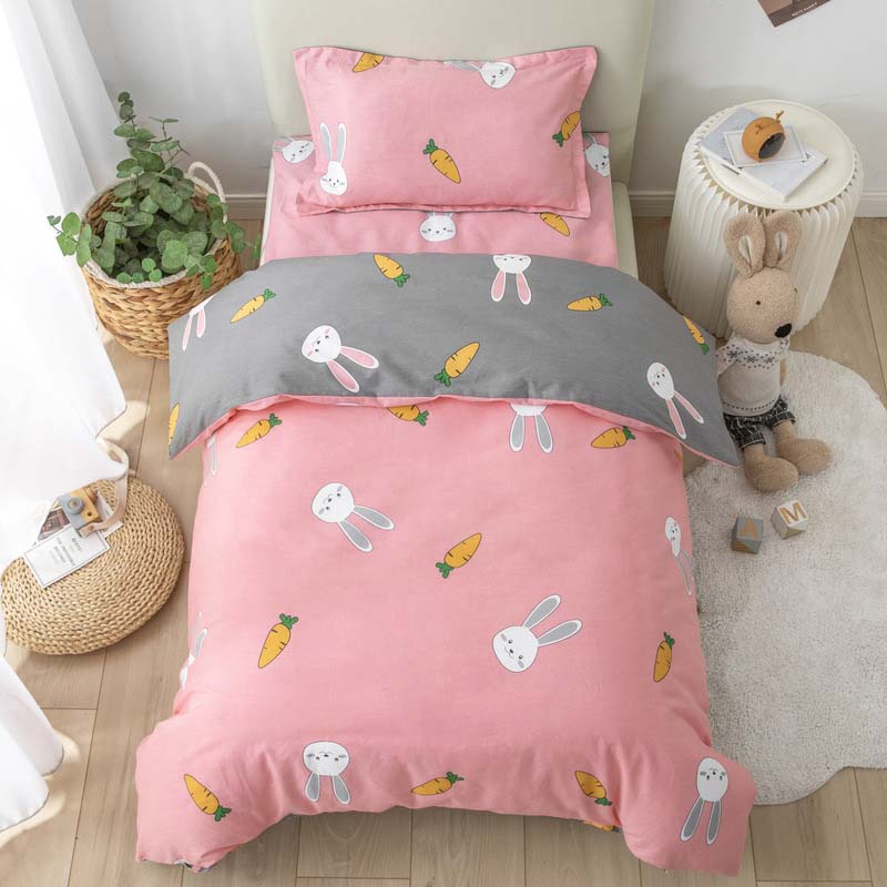 3pcs/set Kindergarten Bedding Set Children's Quilt Cover Bed Sheets Without Filling Available In All Seasons Pure Cotton