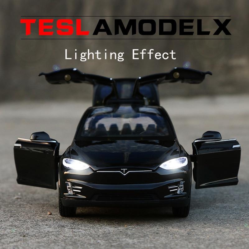 Модель автомобиля Tesla X из сплава, игрушечные машинки и игрушечные машинки, детские игрушки, подарок для детей, 2020