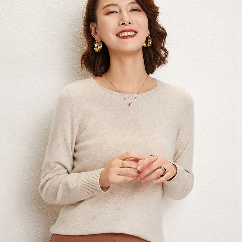 adohon woman winter 100% Cashmere sweaters and autumn knitted Pullovers High Quality Warm Female thickening O-neck enlarge