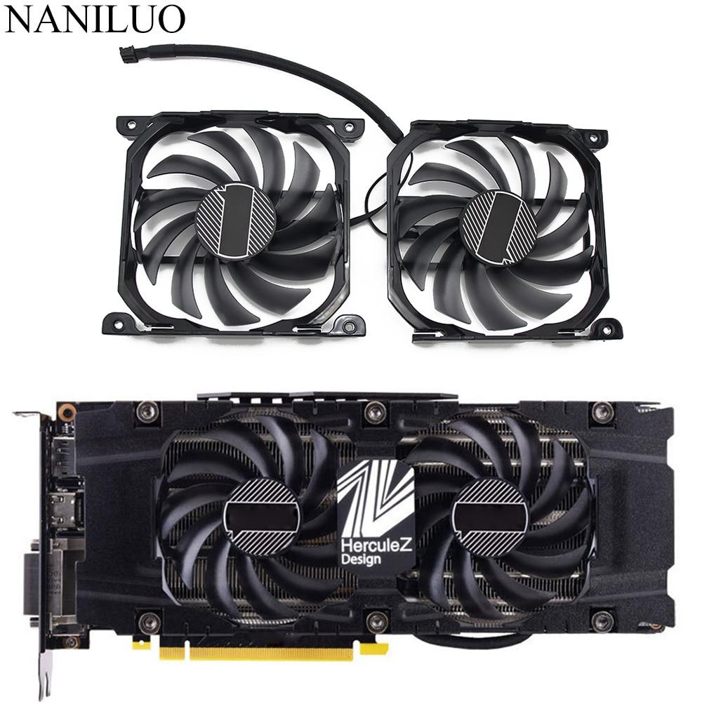 Кулер для видеокарты CF-12915S, 2 шт./компл., P104-100 1070Ti, 1080Ti, для видеокарты INNO3D GeForce GTX 1070, 1080 Ti Twin X2