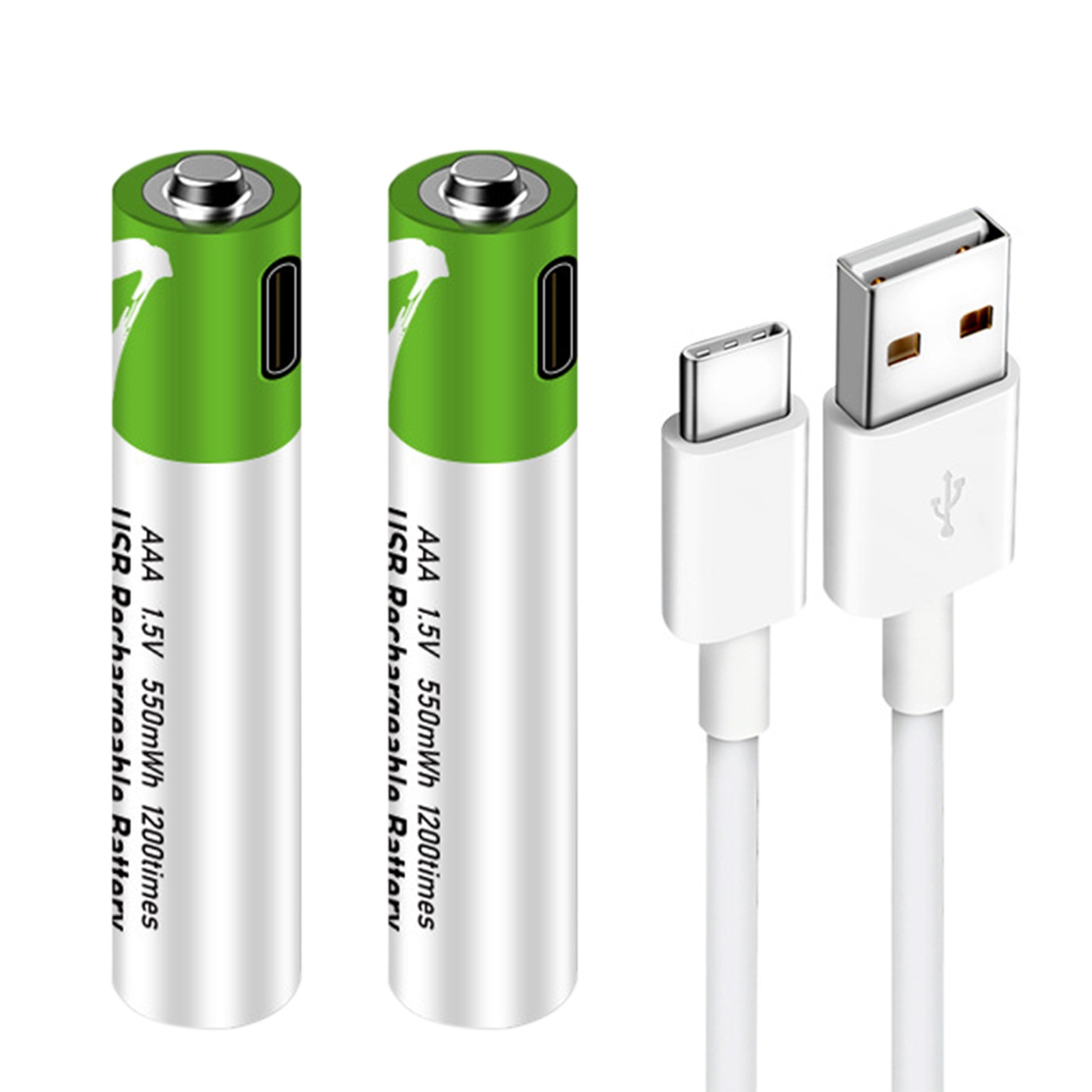 2Pcs 1.5v Usb Type-c Port Direct Charge Rechargeable 7th Lithium Battery Simple Professional Cell DH