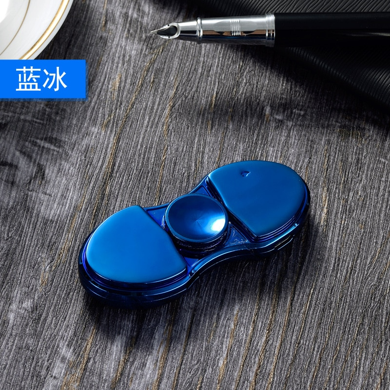 Luminous Metal Fidget Spiner Hand Spinner Top Spinners Stress USB Charging Lighters Fingertip Gyro Antistress Led Toys Gift E enlarge