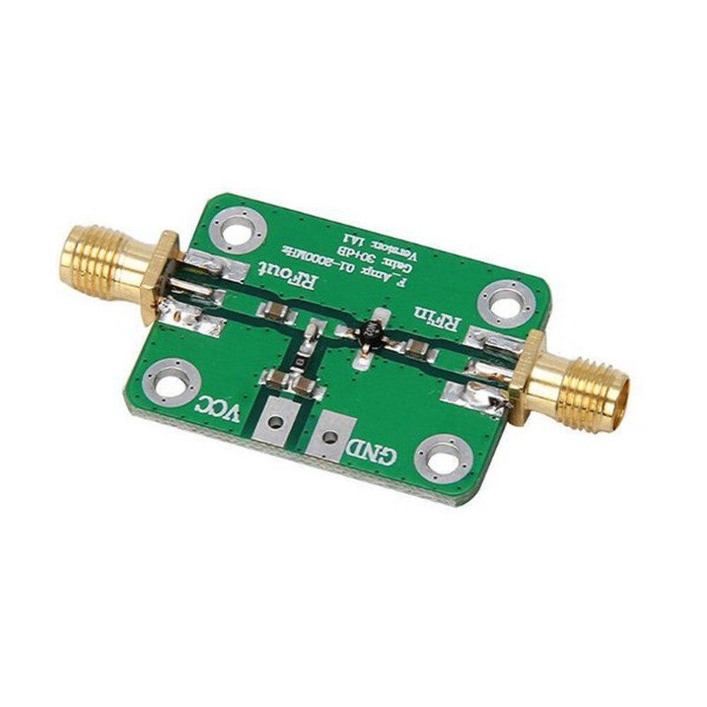 Amplificador de banda ancha RF 0,1-2000 MHz receptor de módulo de banda ancha LNA de bajo ruido 30dB