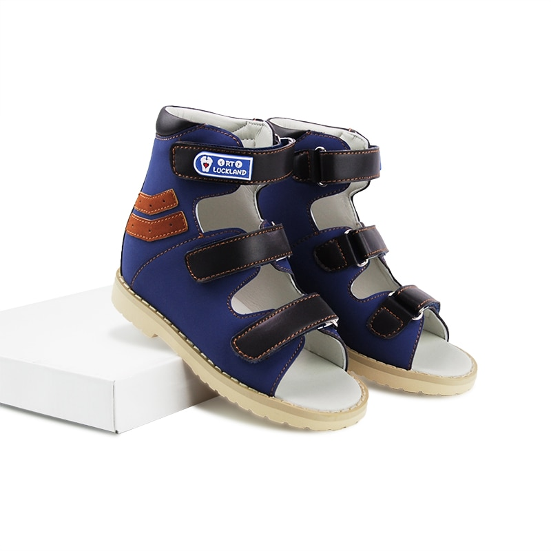 Kid Sandals Boys Summer Orthopedic Children Shoes Toddler Blue High-Top Arch Support Nubuck Leather Flatfeet Clubfoot Footwear enlarge