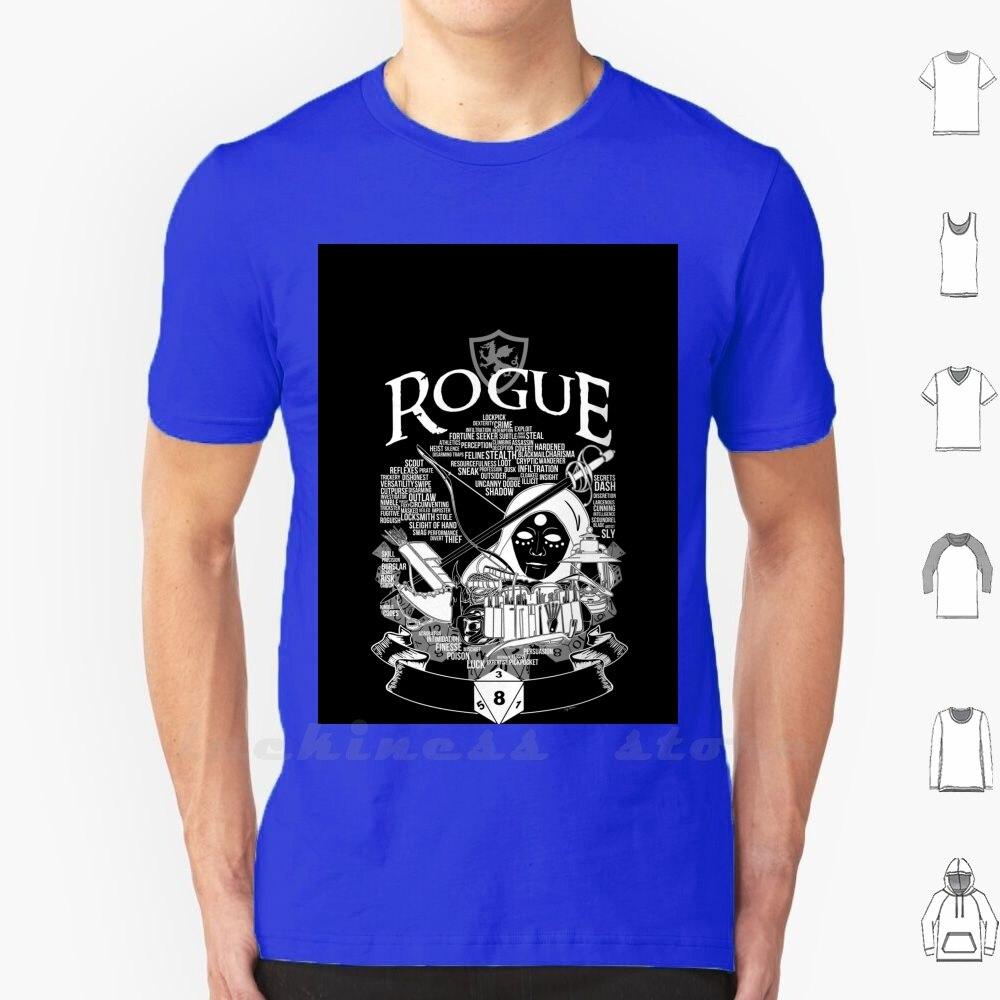 Rpg clase serie Rogue-versión blanca camiseta Ringer algodón hombres mujeres adolescente Rogue clase Dnd Rpg Nerd Geek Juego de mesa