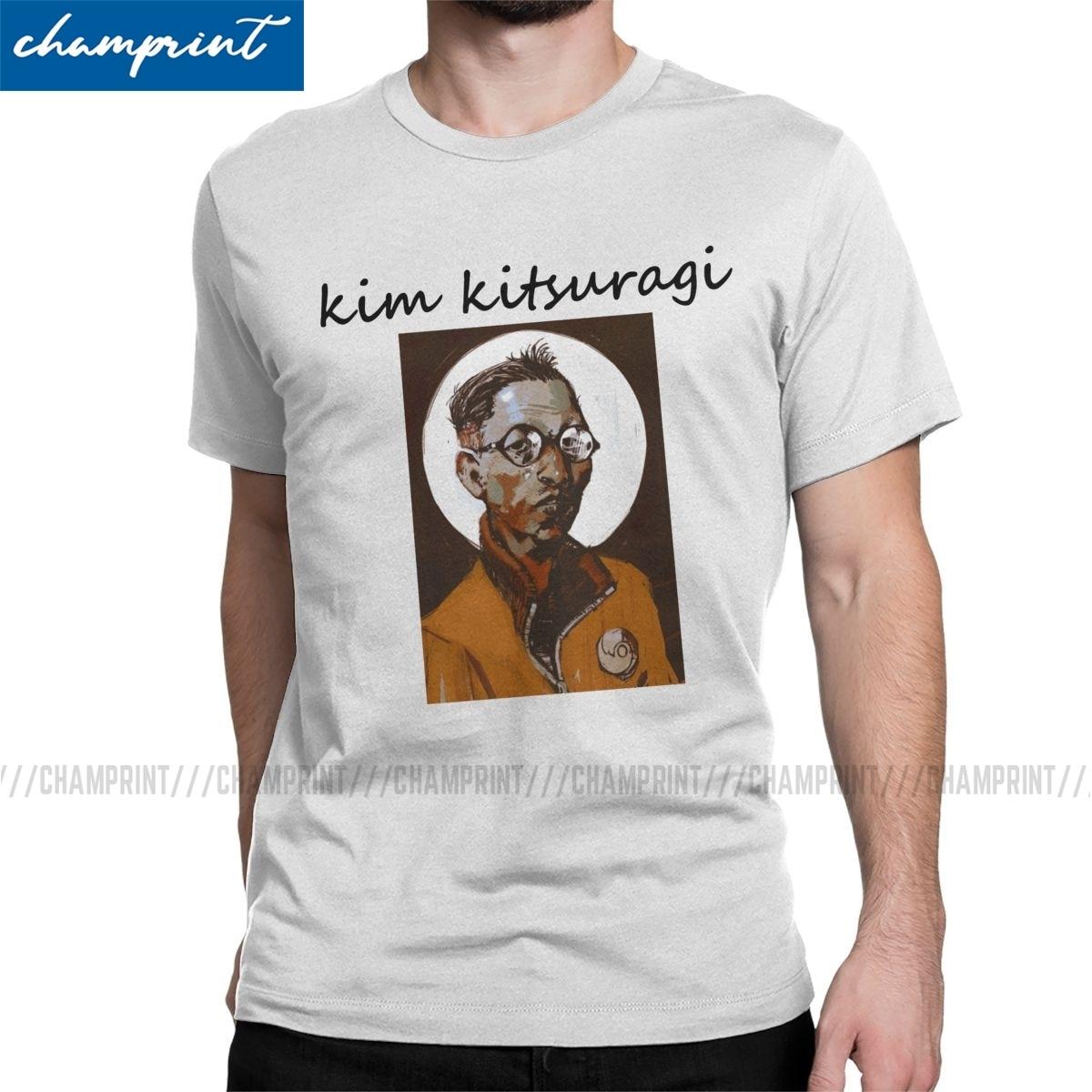 Men's Disco Elysium Kim Kitsuragi T Shirt Pure Cotton Clothes Novelty Short Sleeve Crew Neck Tee Shirt Birthday Present T-Shirt