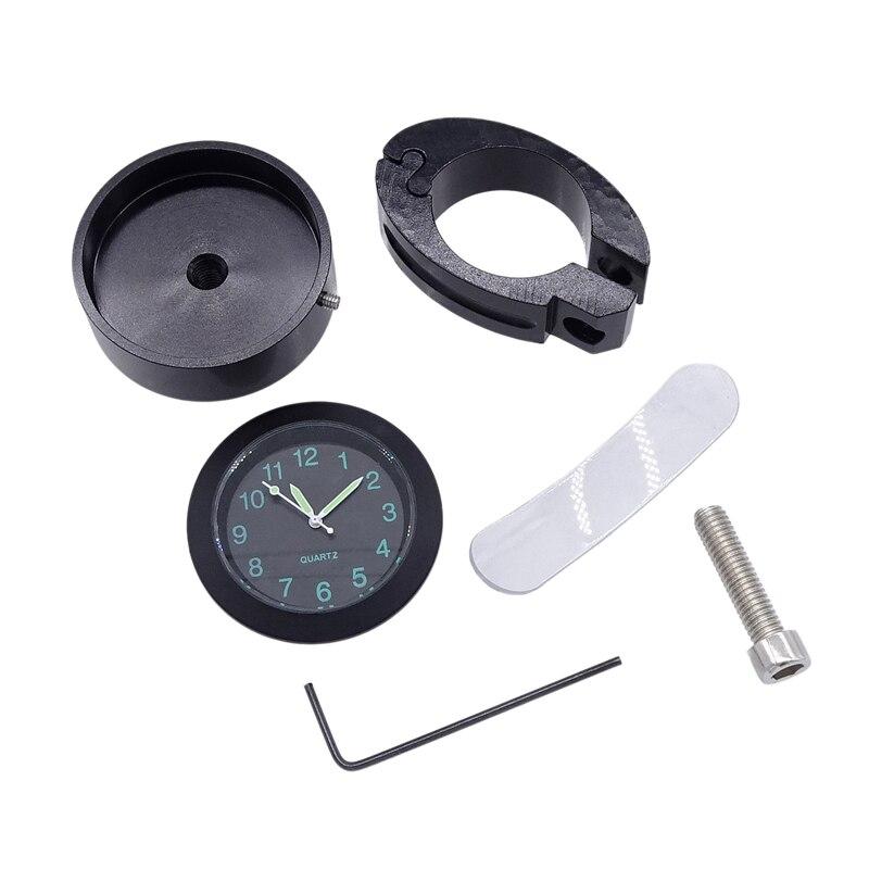 8 -10 металлические водонепроницаемые часы на руль мотоцикла с пряжкой на стол руль велосипеда кварцевые часы мото электрический автомобил...