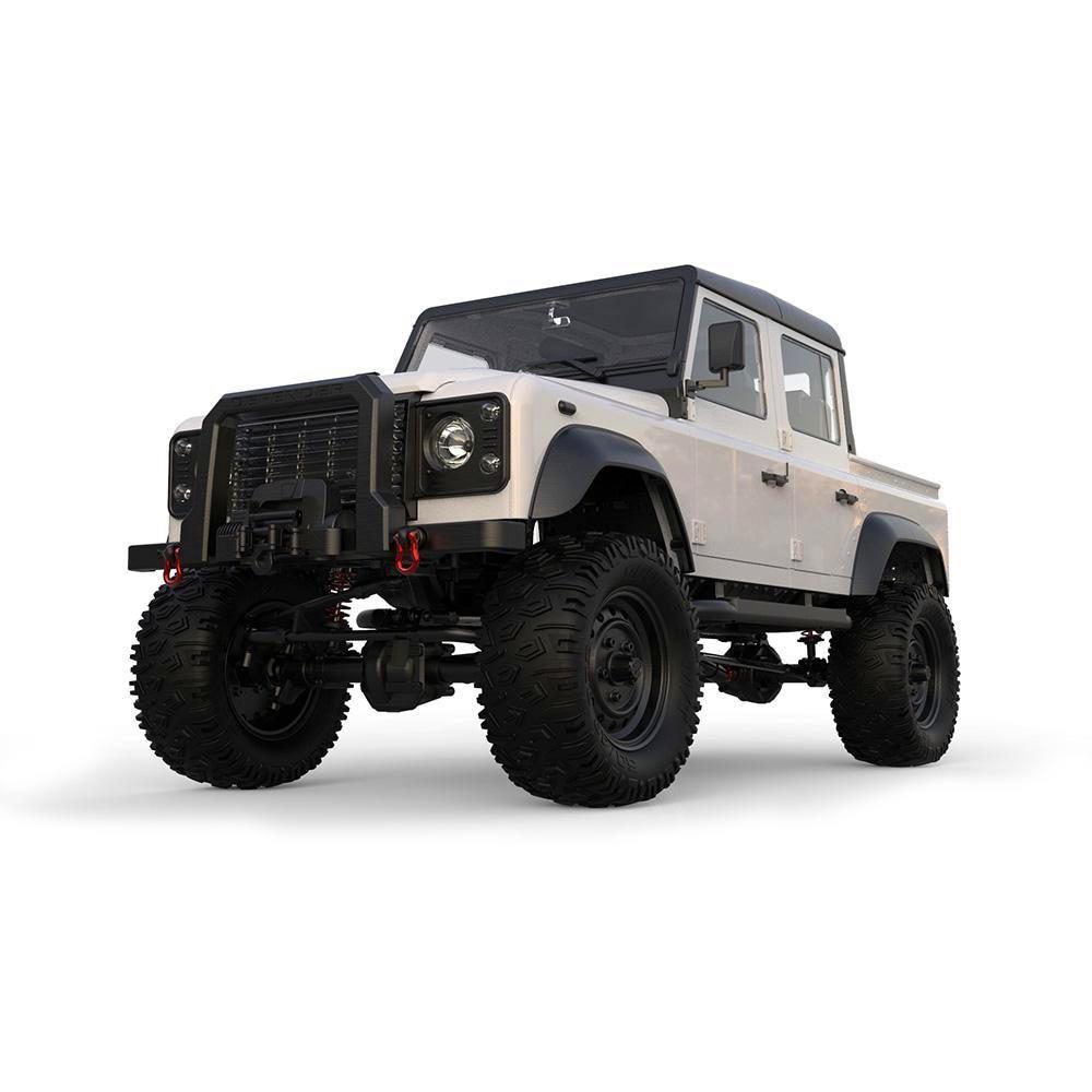مزدوج E 1/8 مقياس E102-003 راديو التحكم روك الزاحف 2.4G 4WD 2-Speed أبيض اللون