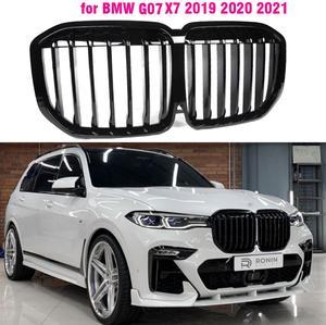 Gloss Black Front Bumper Kidney Grill Grilles for BMW X7 G07 2019 2020 2021 xDrive30d M Sport xDrive40i  xDrive50i Sport styling
