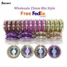 3D vison cils boîtes demballage en vrac cas 30 paires longues 5D 25mm cils en vrac dramatique cils en gros vison cils vendeur