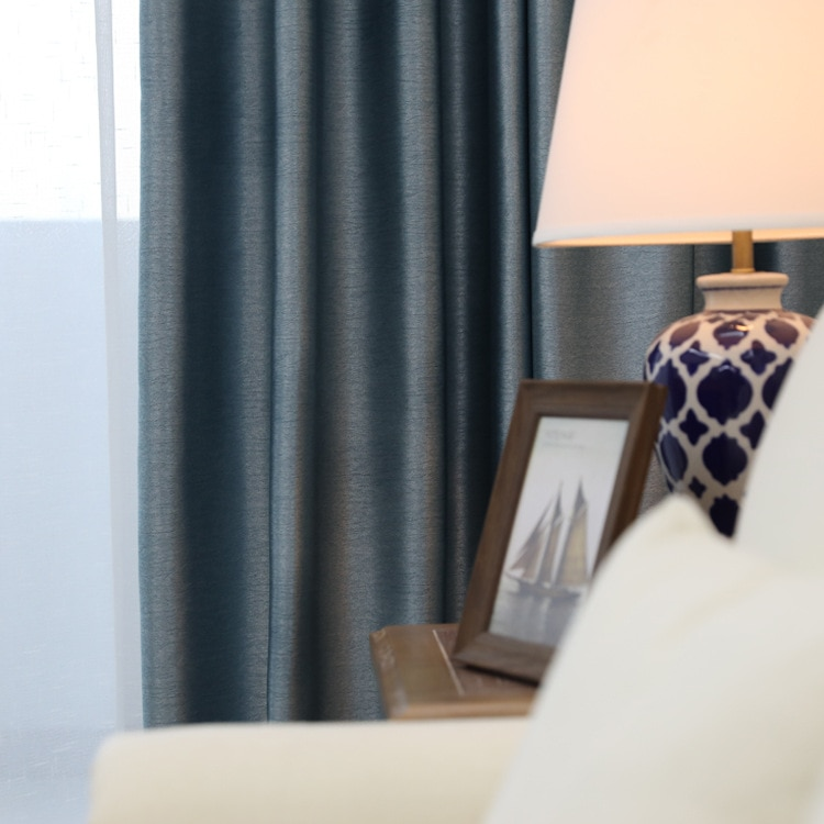 Новые сине-серые шторы с резьбой по дереву для гостиной, столовой и спальни.