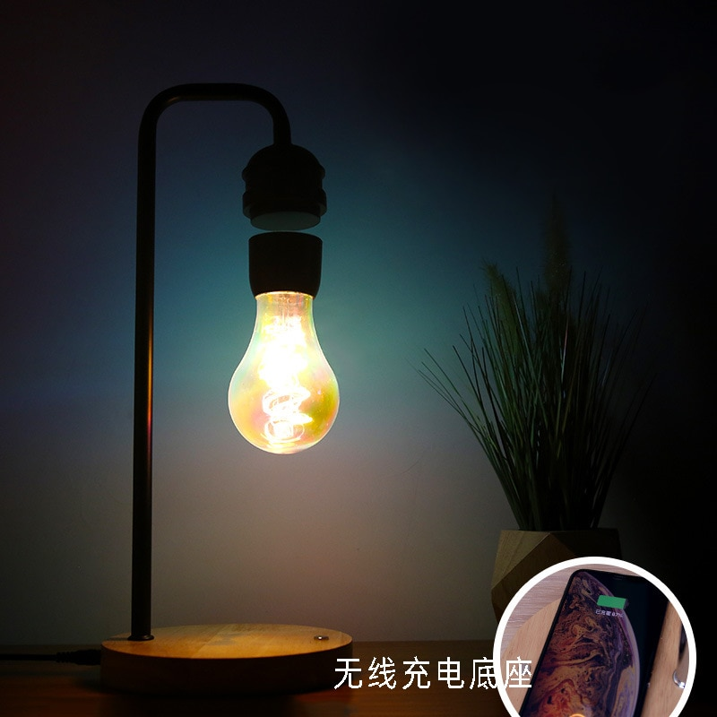 Magnetic Levitating Floating Wireless LED Light Bulb with Wireless Charger for Desk Lamp,Room or Office Decor,Unique Gifts