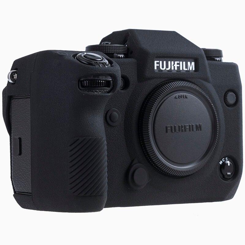 Funda de silicona para Fuji X-H1 XH1 cámara Digital de alta calidad Litchi textura superficie cuerpo protector de la cubierta para FUJIFILM XH1 X-H1
