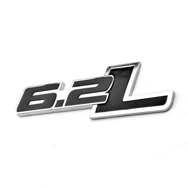 1x черный 6.2L логотип сбоку сзади Эмблема багажника значки-наклейки для Chevy Camaro SS