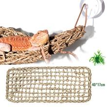 Terrarium de Reptile 40x17cm pour Lizard hamac   Petit Hermit Crabs Geckos, tapis de lit décor pour animaux de compagnie