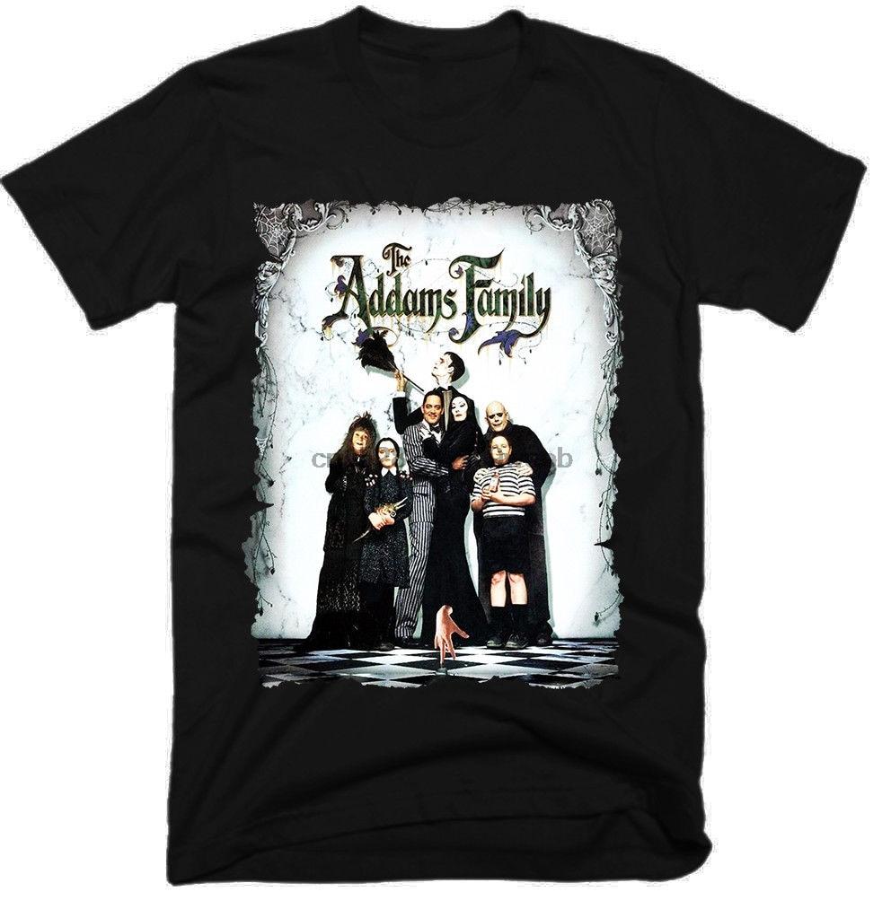 Addams, película familiar para hombres, divertidas camisetas para hombres, ropa de calle 2019, camisetas de moda 2019, camisetas personalizadas, camisetas para hombres