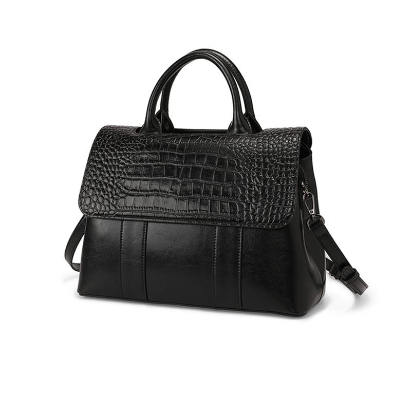 2021 new luxury women's bag fashion crocodile pattern single shoulder bag all-match leather handbag messenger bag clutch