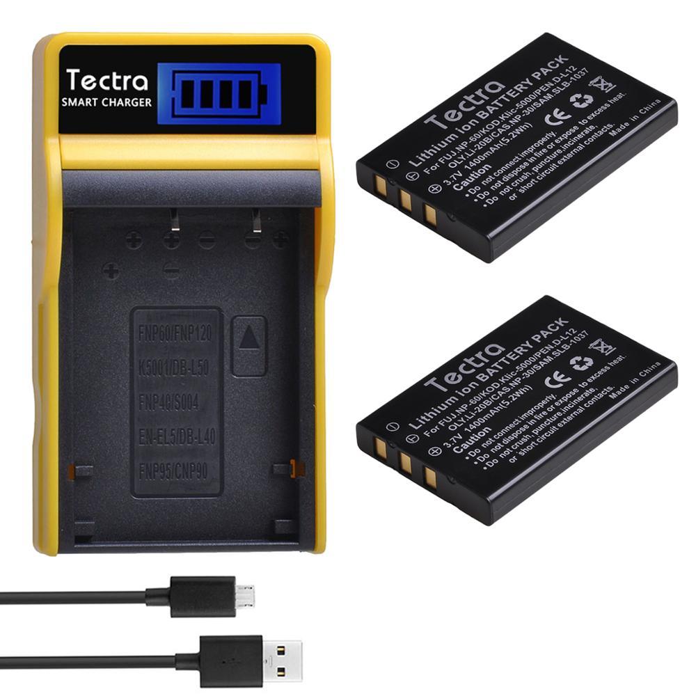 2x1400mAh NP-60 FNP60 NP60 NP 60 batería + LCD cargador para Fujifilm NP-60 Kodak KLIC-5000 Samsung SLB-1137 Olympus LI-20B batería