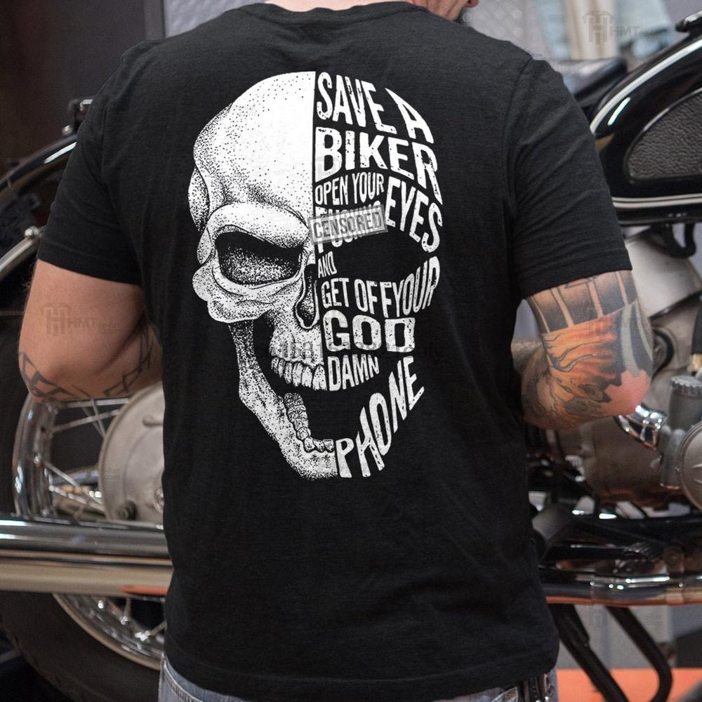 Сэкономьте байкерскую футболку