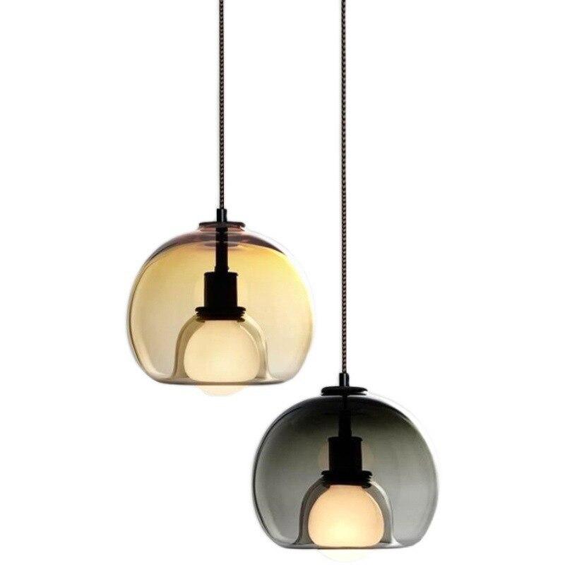 Современные стеклянные подвесные светильники для спальни, гостиной, декоративные подвесные светильники, креативные светодиодные люстры д...