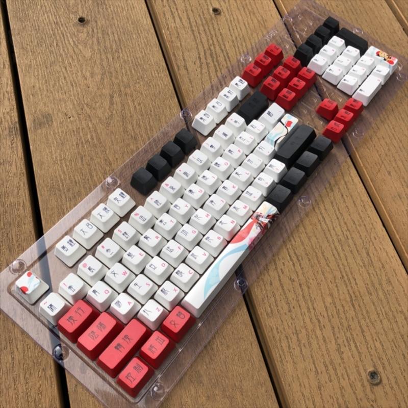 104 مفاتيح PBT أغطية المفاتيح OEM الشخصي صبغ الفرعية Keycap ل cherry MX التبديل لوحة المفاتيح الميكانيكية الإناث دور موضوع Keycap