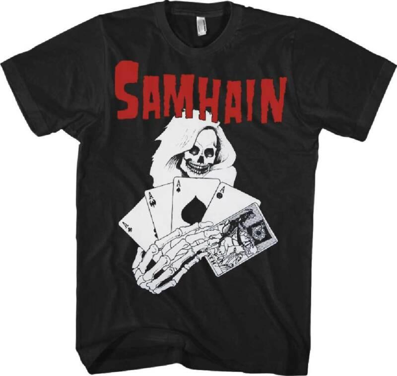 La muerte Samhain carta T camisa S-M-L-XL-2XL Nuovo Ufficiale Live Nation mercancía