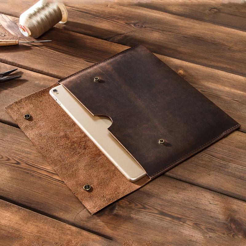 Чехол для ipad 8 поколения с контактами, чехол для ipad air 4, ipad pro 11 дюймов, 2020, 2021 натуральная кожа, ретро чехол для ipad