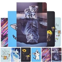 coque for apple ipad 9 7 2018 case cartoon tiger cat leather fundas cover for ipad 9 7 inch 2017 a1822 a1823 tablet cover cases