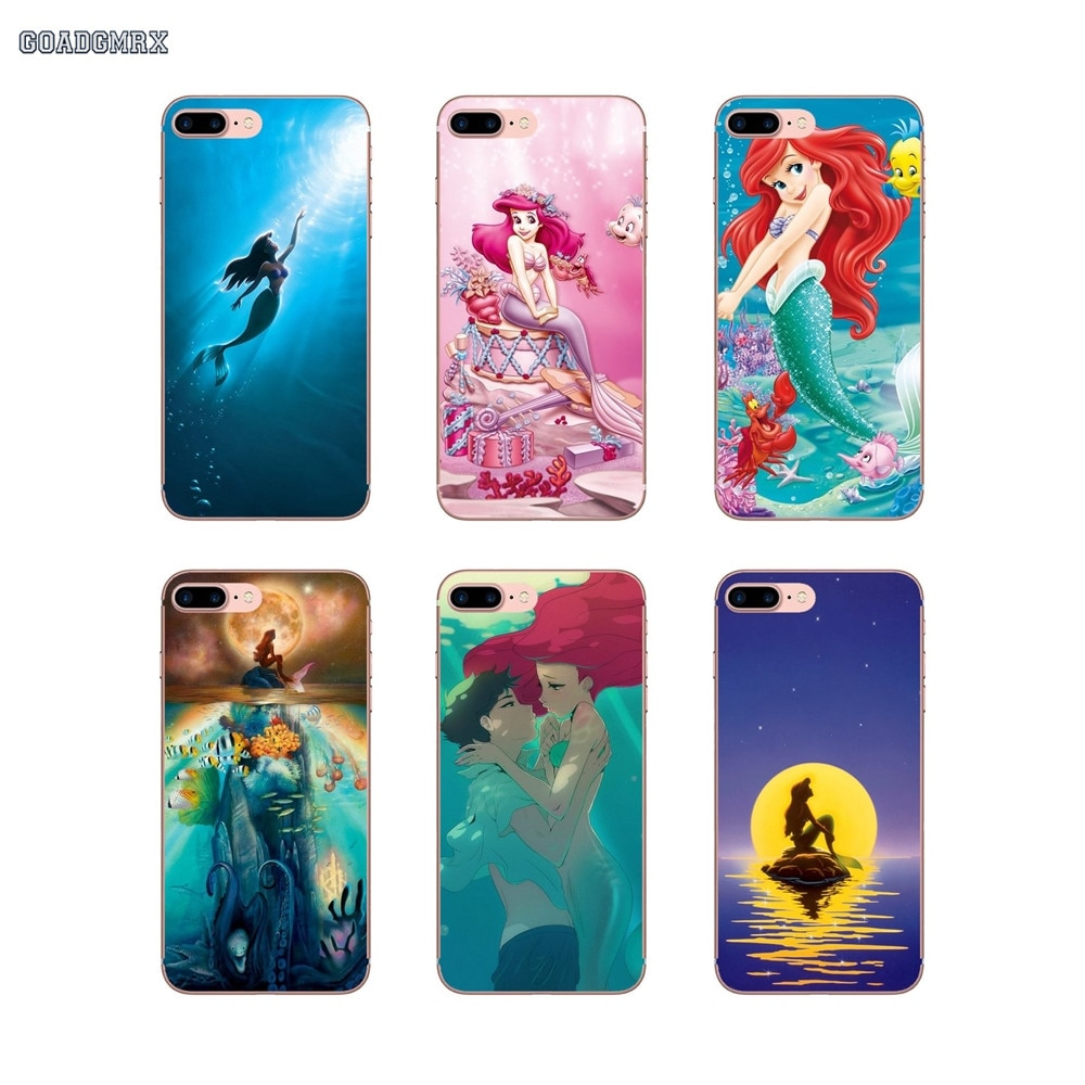 Cute The Little Mermaid For ZTE A 452 510 512 520 530 602 610 910 V 6 9 Blade A5 2019 V10 Vita V7 V8 Lite  Cell Phone Case Cover