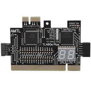 Multifunction PC PCI PCI-E Mini PCI-E LPC Motherboard TL-460S Diagnostic Tester Debug Analyzer Cards For Desktop Computer
