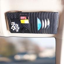 Sun Visor Leather Auto Car Sunshade Sun Visor CD Card Glasses Holder Organizer Bag Cars Gadget Vehic