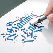 Parallel Kalligraphie Brunnen Stift Transparent Art Tinte stift Gothic Arabisch Kursiv 0.7/1.1/1.5/1.9/2.5/2,9mm Nib Büro Liefert