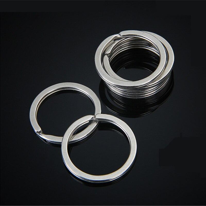 XUNZHE 10 unids/pack exterior diámetro 30mm Llavero de Metal anillos de Split Unisex llavero Accesorios