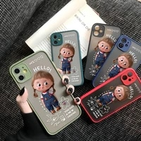 phone case for iphone 7 8 6s 6 plus se 2020 12 11 pro max mini xs x xr cover lovely girls camera protection cases