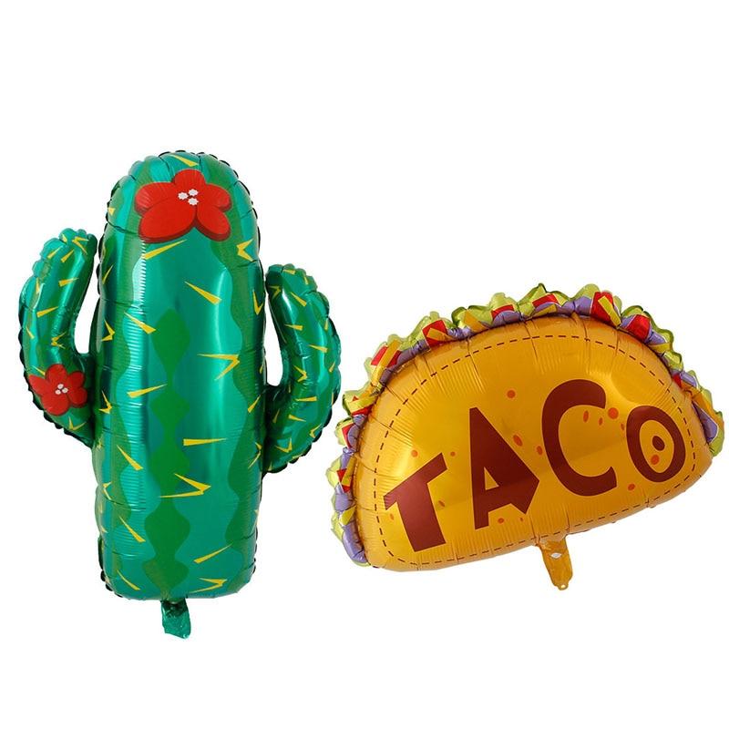 Мексиканские вечерние воздушные шары аксессуары вечерние TACO but LOVE вечерние Фиеста кактус гелиевая фольга Воздушные шары TacoTwosday