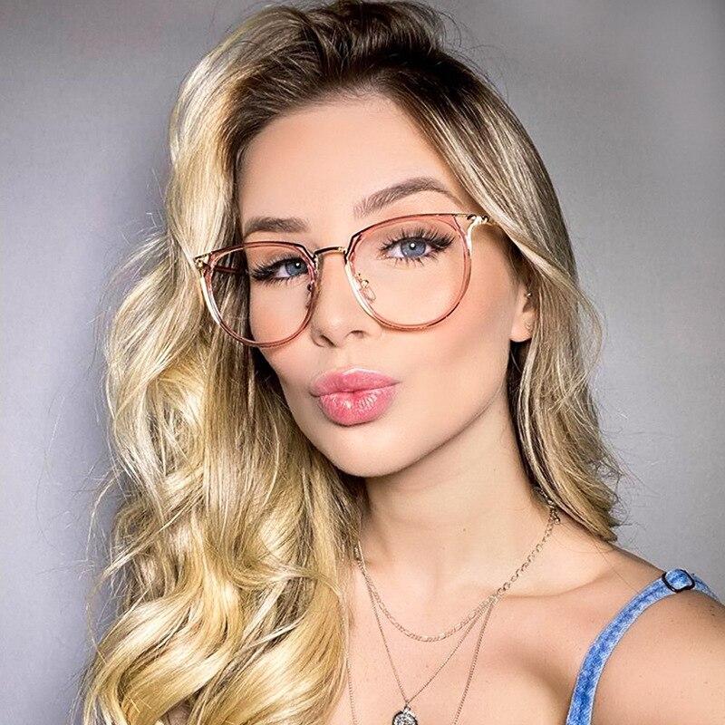 QPeClou 2020 nueva moda Sexy montura de gafas de Ojos de gato mujeres de moda ópticas transparentes anteojos mujer gafas para ordenador