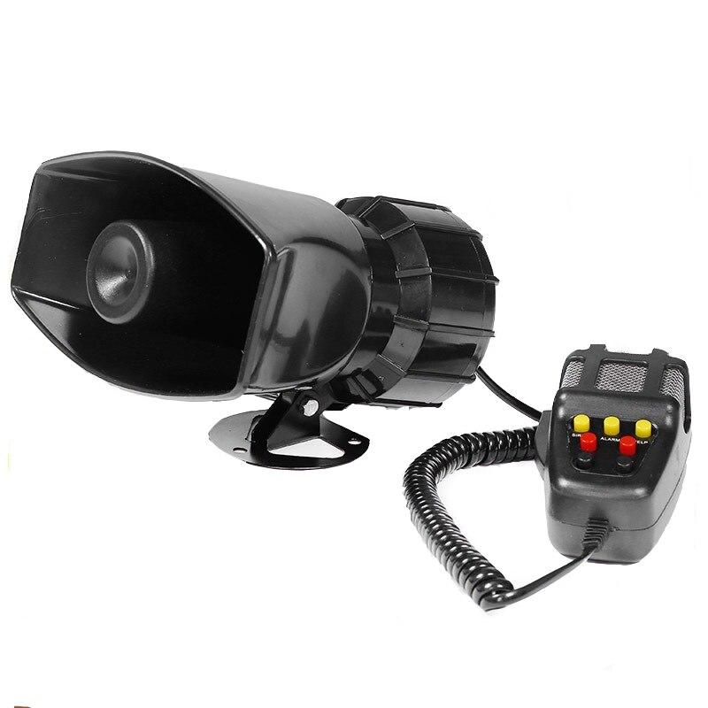 DC 12V Wire 100 Watt Alarm Siren 7 Tone Outdoor 120Db Sounder Super Car Alarm Horn Security Alarm Siren For Whistle Fire Securit 1set tone sound car emergency siren horn emergency amplifier hooter 12v 100w