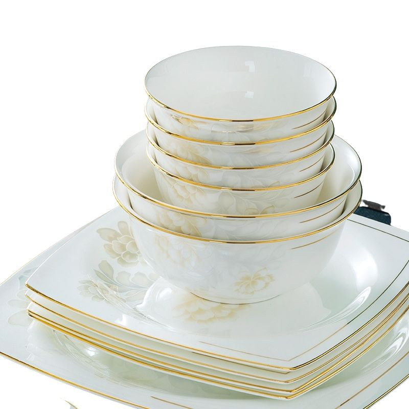خمر السيراميك الفاخرة الطعام لوحات مستديرة أطباق بورسلين أطباق عشاء الإبداعية موضة أسييت أدوات المائدة المطبخ EI60TZ