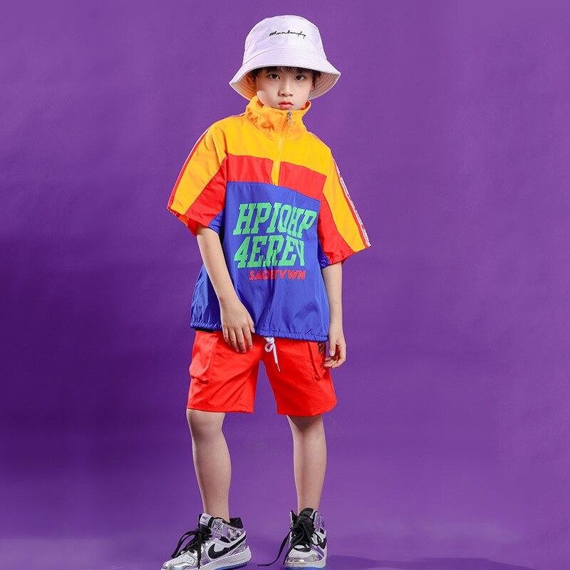 Ropa de hip-hop párr niño abrigo de cuello alto Jersey pantalones cortos...